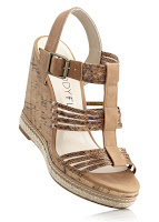 Sandale cu aspect de plută înaltă de 12 cm