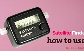 how to use satellite finder signal meter