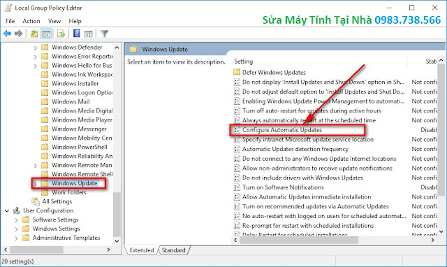 Cửa sổ Local Group Policy Editor