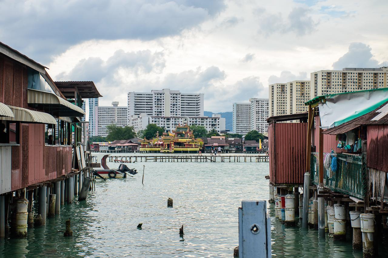chew jetty landscape view image penang malaysia