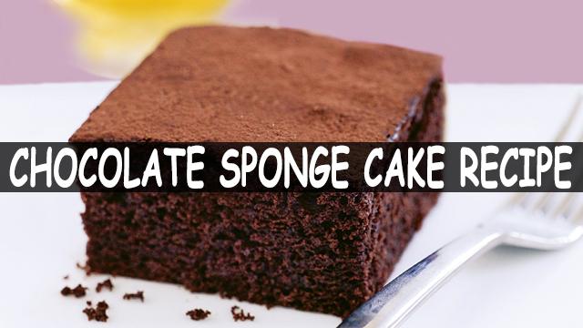 How To Make Chocolate Sponge Cake Recipe | Chocolate Cake Recipe | Cake Recipe