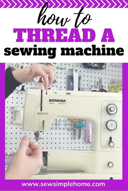 Easy tips on threading a sewing machine and bobbin and practice tips.  Also, a simple PDF sewing practice sheets to get your started sewing.