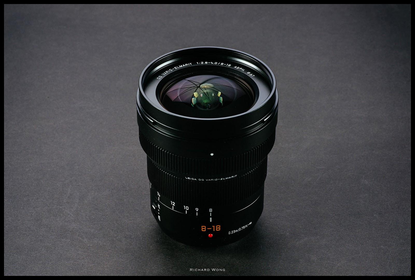 Leica DG Vario-Elmarit 8-18mm f/2.8-4.0 Asph, вид сверху