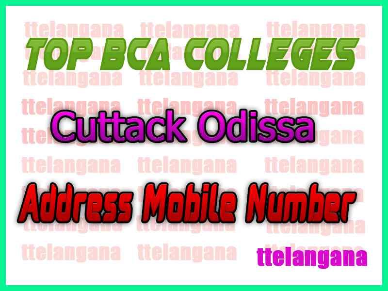 Top BCA Colleges in Cuttack Odissa