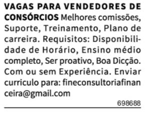 VENDEDORES DE CONSÓRCIOS