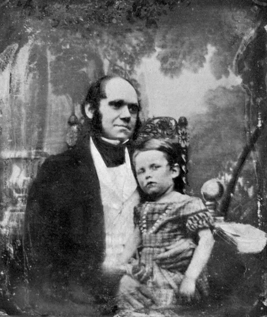 Charles Darwin (age 33) and his eldest son William Erasmus Darwin 1842. marchmatron.com