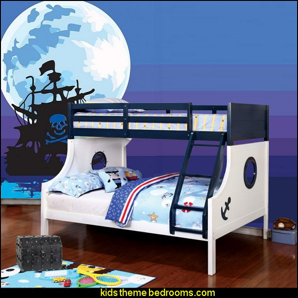 nautical bedrooms pirate bedrooms Tritan Twin over Full Bunk Bed