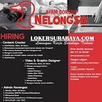 Bursa Kerja Surabaya di Ayam Goreng Nelongso November 2019