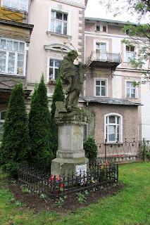 Figura św. Jana Nepomucena z 1722 roku.