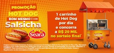 Promoção Hot Dog Bom Mesmo Salsicha Seara 2021