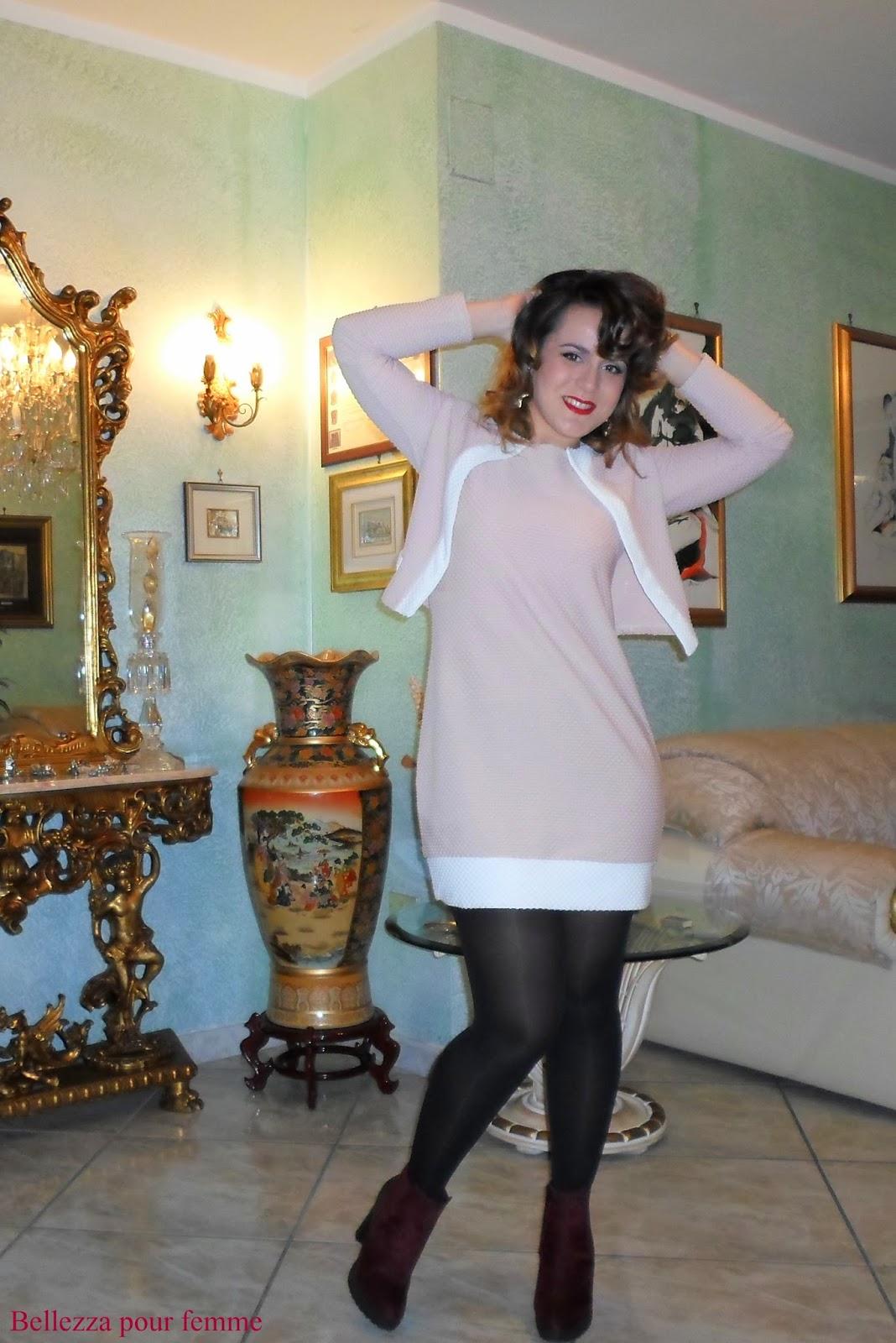 tubino rosa cipria fashion blogger salerno