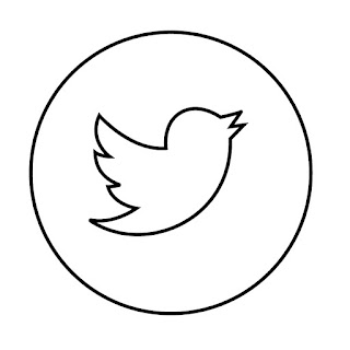 line drawing of twitter logo vector line drawing