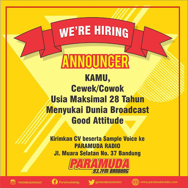 Loker Announcer Paramuda FM