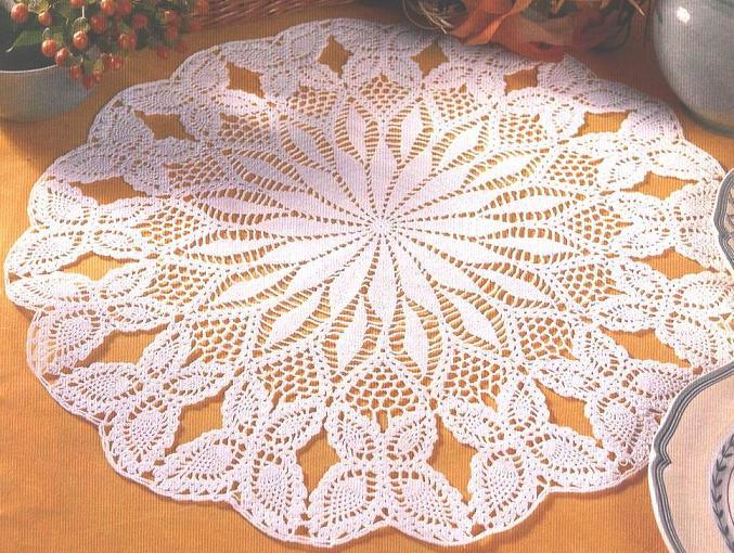 Patron Crochet Tapete Mesa