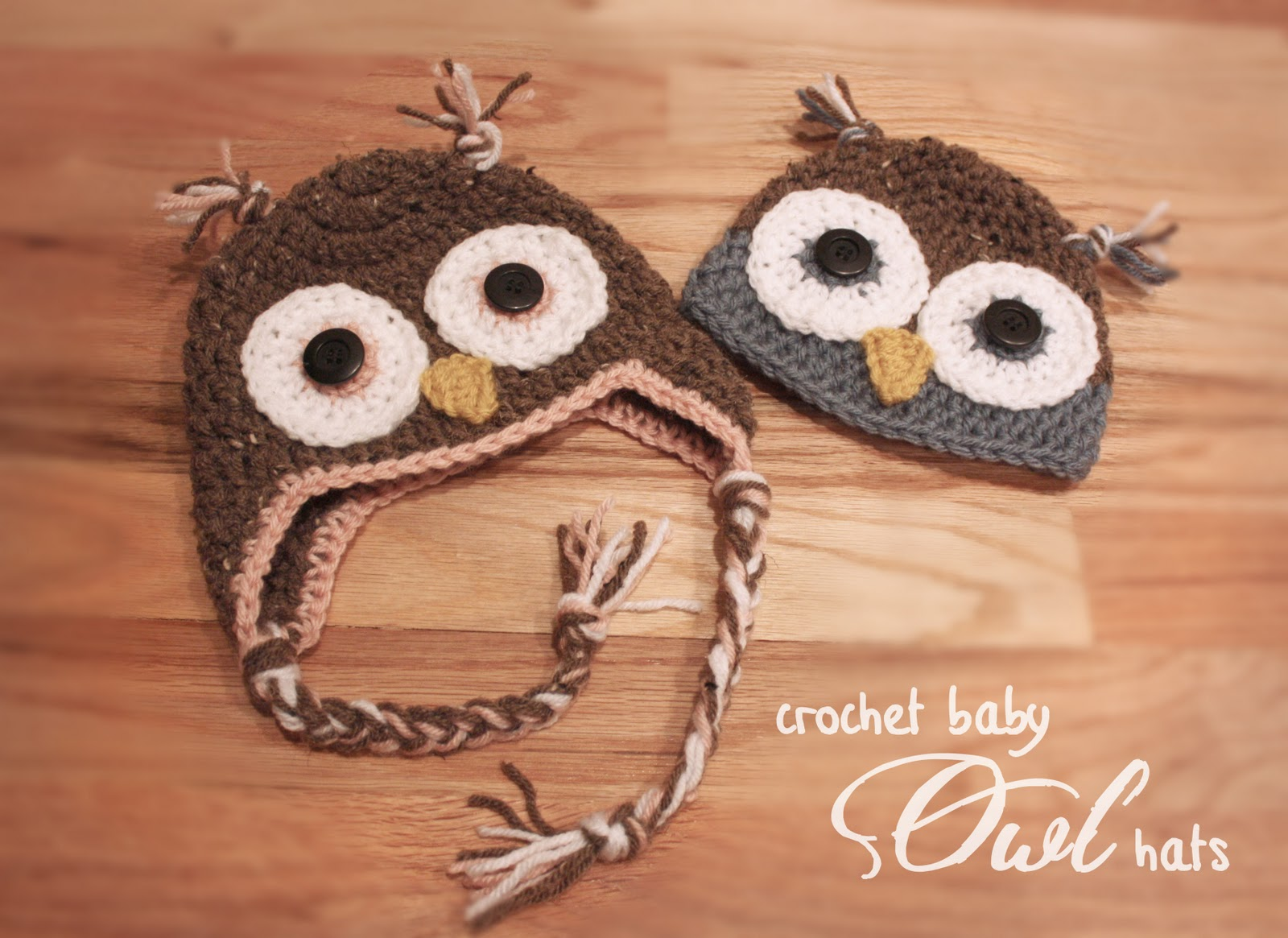 Crochet Owl Hats - Repeat Crafter Me