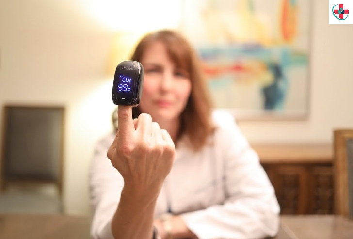 Picking up a Blood Pulse Oximeter
