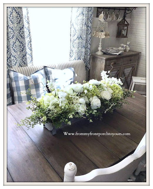 White-Hydrangea -Floral- Arrangement-DIY-From My Front Porch To Yours