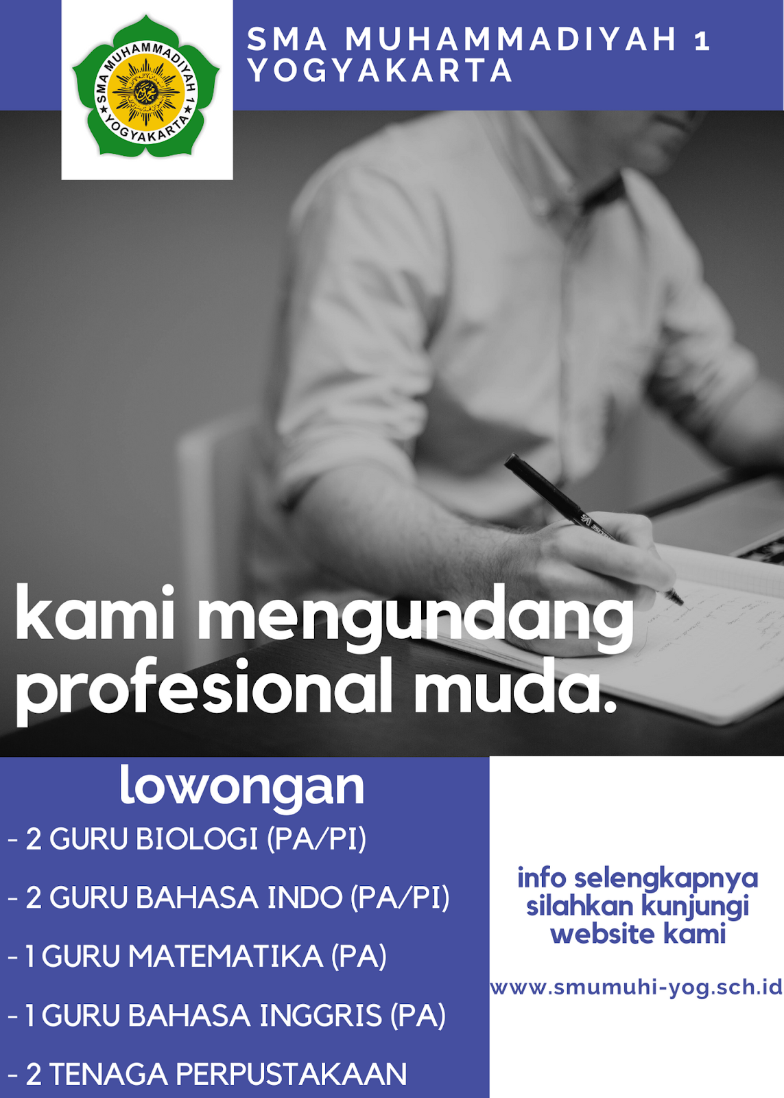 Lowongan Kerja Guru Dan Tenaga Perpustakaan Sma Muhammadiyah 1 Yogyakarta Rekrutmen Dan Lowongan Kerja Bulan Februari 2021