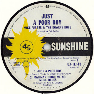 Mike Furber & The Bowery Boys - Just A Poor Boy (1966)