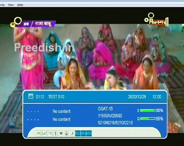 Filamchi added on Channel Number 82 & Test 510 on DD Free dish DTH