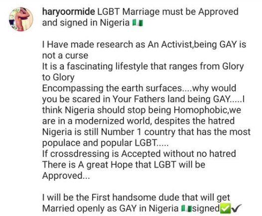 'I'll Be The First Openly Gay Man To Get Married In Nigeria' - Chef Ayo Declares