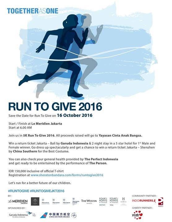 Run to Give 2016 Jakarta