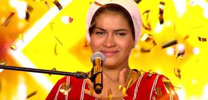 فوز المتسابقة إيمان الشميطي ببرنامج Arabs Got Talent وإعجاب شيرين عبد الوهاب بصوتها