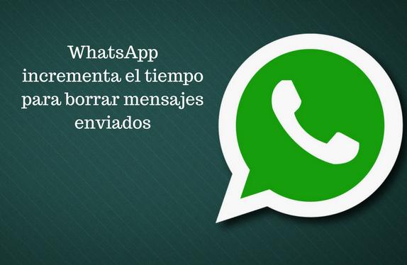 WhatsApp, borrar, mensajes, enviados,