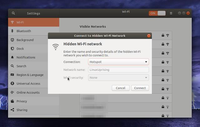 Ubuntu 18.04 hidden Wi-Fi network