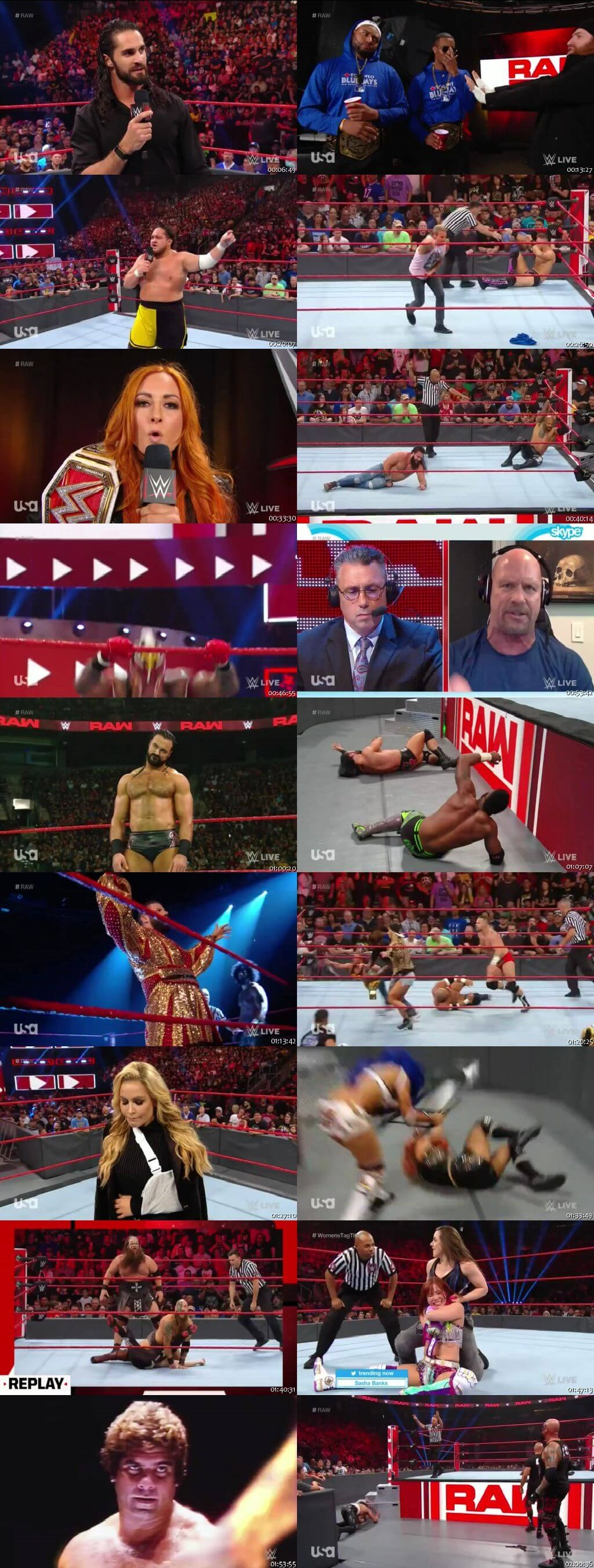 Screen Shot Of Wrestling TV Show WWE Monday Night Raw 12th August Watch Online Free Download