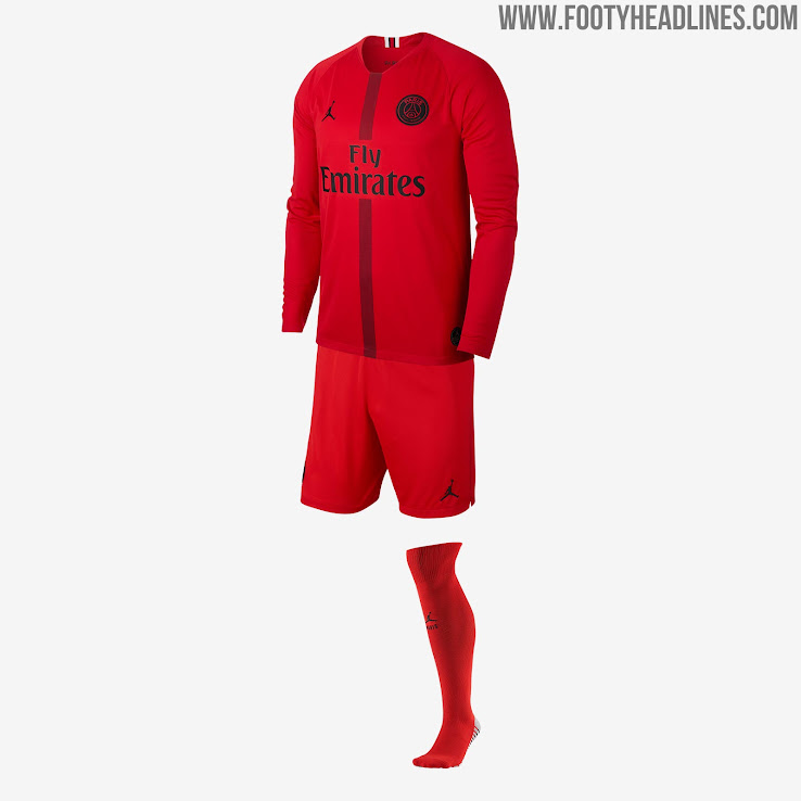 best service ed8b5 5235e Jordan PSG 18-19 Champions League Kits Released - Footy ...