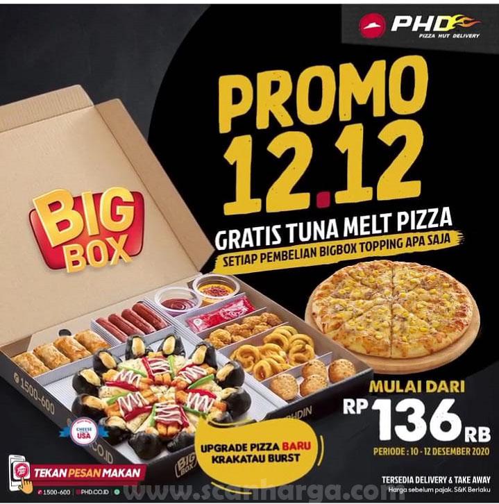 Promo PHD Spesial 12.12 - Beli Big Box Topping Gratis Tuna Melt