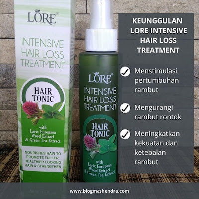 Keunggulan Lore Intensive Hair Loss Treatment