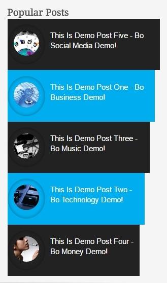 Popular Post Widget Style 9