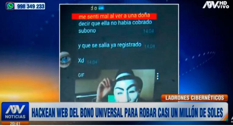 Bono Universal Familiar: Hackers se robaron un millon de soles