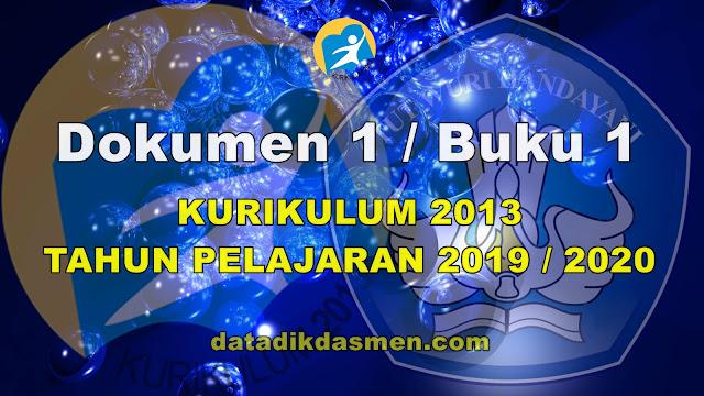 Unduh Dokumen 1 Kurikulum 2013 Sekolah Jenjang SD Tahun Pelajaran 2019 - 2020