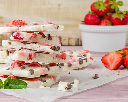 Strawberry Yogurt Bark