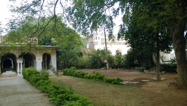 Pictures shows what you see when you crosses the paigah tombs gate