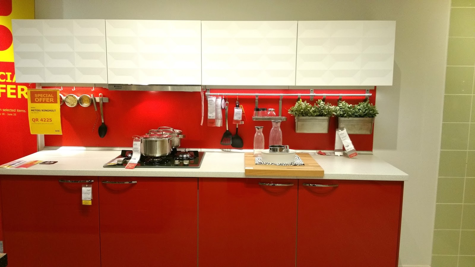 Ikea Red Kitchen