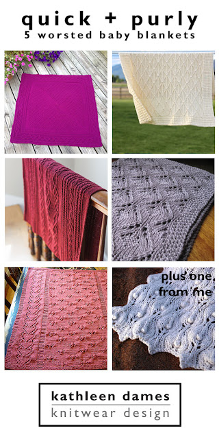 quick + purly: 5 worsted baby blankets on kathleendames.com