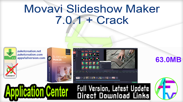 Movavi Slideshow Maker 7.0.1 + Crack