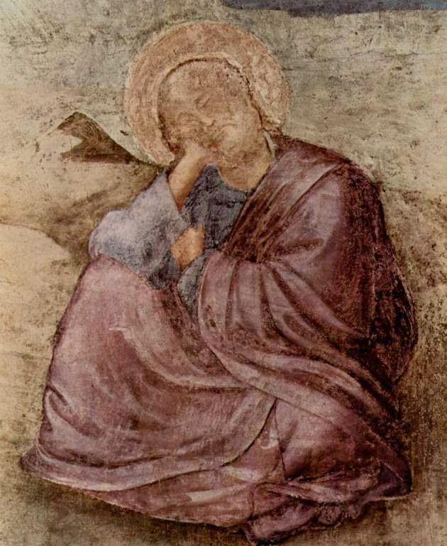 Evangelista João em Patmos - Giotto di Bondone e suas pinturas ~ Primeiro a introduzi a perspectiva na pintura
