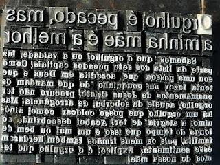 Letras Usadas na Impressão - Jornal Taquaryense, Taquari (RS)