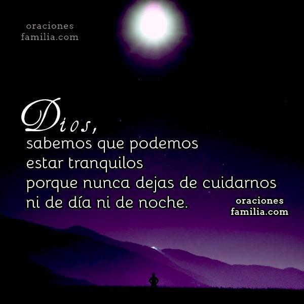 oracion dormir tranquilo salmo Dios nos protege
