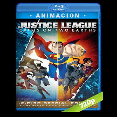 Liga De La Justicia Crisis En Dos Tierras (2010) BRRip 720p Audio Trial Latino-Castellano-Ingles 5.1