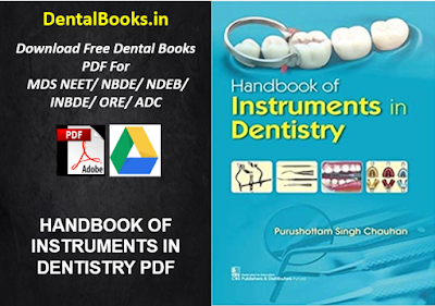 HANDBOOK OF INSTRUMENTS IN DENTISTRY PDF DOWNLOAD