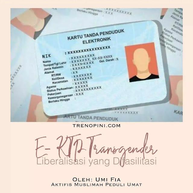 Kemendagri melalui Ditjen Dukcapil menunjuk pejabat pelaksana yang sepenuhnya bakal mengkoordinasi pelayanan terhadap pembuatan KTP kelompok transgender.