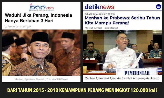 Dulu Sebut Jika Perang, Indonesia Hanya Bertahan 3 Hari, Sekarang Kok Berubah Setelah Dikutip Prabowo?