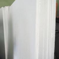 Styrofoam lembaran.