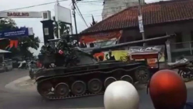 Terkuak Identitas Tank Baja TNI Penyeruduk Tukang Tahu di Bandung